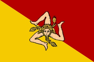 The flag of Sicily